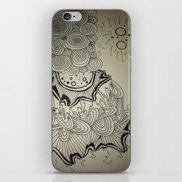 Ink Doodle Sprial Design iPhone Skin