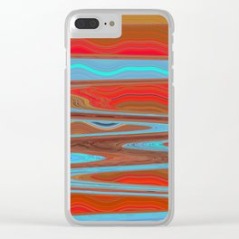 Abstract Retro Lava Water Deep Earth Landscape Clear iPhone Case