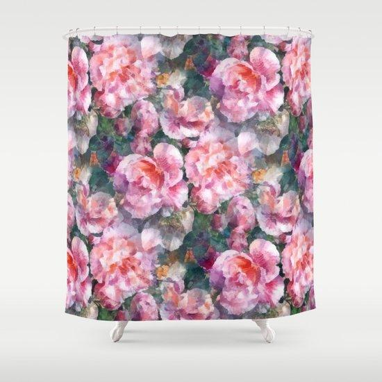 Pink floral pattern by catyarte