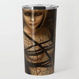 Sad Gothic Girl awaiting the storm Travel Mug