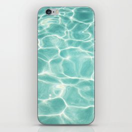Water Abstract Photography, Teal Ocean, Turquoise Sea, Water Ripple Seascape iPhone Skin