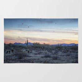 Hot Air Balloons Outside Phoenix at Sunset Rug