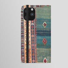 Sivas Antique Turkish Niche Kilim Print iPhone Wallet Case