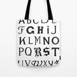 Cemetery Alphabet Tote Bag