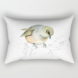 Sylvereye - Waxeye bird Rectangular Pillow