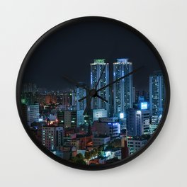 Daegu at Night Wall Clock