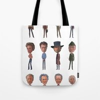 clint barton Tote Bags featuring Clint by Mitch Frey