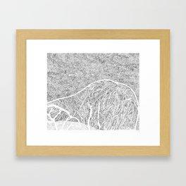 mountain L1 Framed Art Print