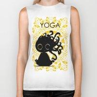 yoga Biker Tanks featuring Yoga by BLOOP