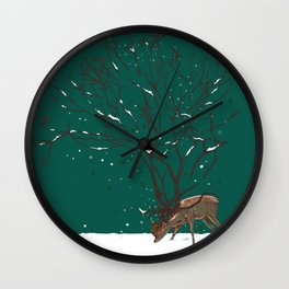 Winter Is All Over You Wall Clock