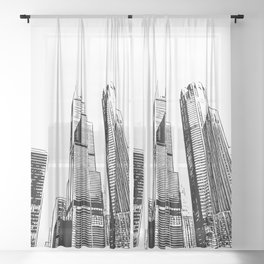 Chicago's Willis Tower Sheer Curtain