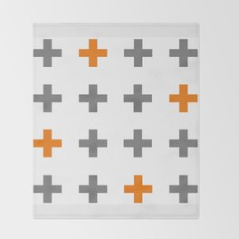 Swiss cross / plus sign Throw Blanket