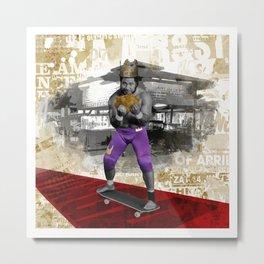 Wrestling Pop Art - King Tonga Metal Print