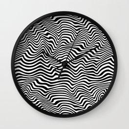 Op Art Stripes Wall Clock