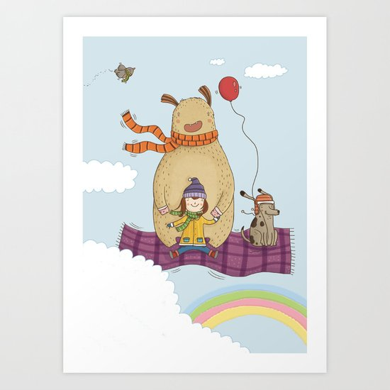 FLYING CARPET Art Print