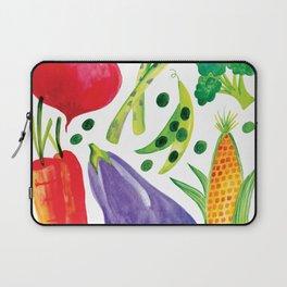 Veg Out - Vegetable, Veggies, Watercolor, Food, Beet, Carrot, Pea Laptop Sleeve