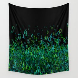 Binary Cloud Wall Tapestry