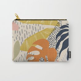 Tropical Foliage Pattern 1 - Retro Boho Carry-All Pouch