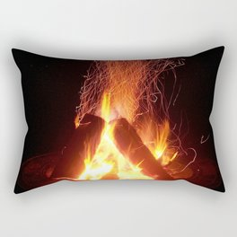 """Fire Photo 4"" Rectangular Pillow"