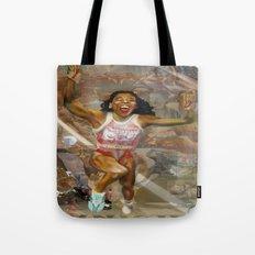 AMERICA ON HER BACK Tote Bag