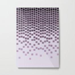 Pixel Rain Metal Print
