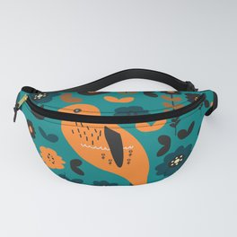 Parrot and flowers Fanny Pack