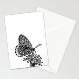 Tangled Butterfly on White Stationery Cards