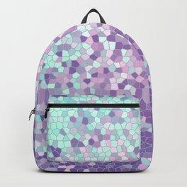 Aqua and Violet Purple Mosaic Backpack