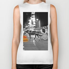 NYC - Yellow Cabs - Horse Carriage Biker Tank