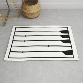 Rowing oars & Piano Keyboard 1 Rug