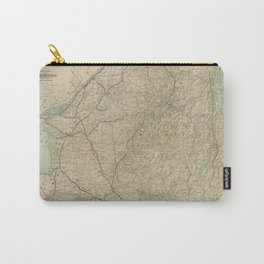 Vintage Adirondack Mountains Railroad Map (1895) Carry-All Pouch