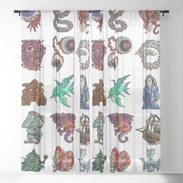 Terrarias All Bosses Sheer Curtain