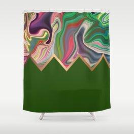 Green Razz Shower Curtain