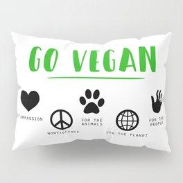Go Vegan Pillow Sham
