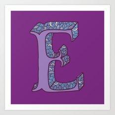 E! Art Print