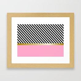 Grrls Areas and lines Framed Art Print