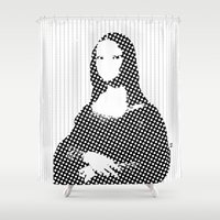mona lisa Shower Curtains featuring Mona Lisa SW x1 by Marko Köppe