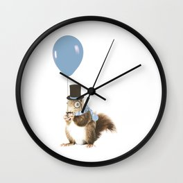 party squirrel Wall Clock
