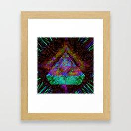 Green Pyramid Landing Framed Art Print