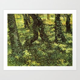 Trunks of Trees with Ivy Vincent van Gogh Art Print