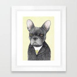 Hard Rock French Bulldog Framed Art Print