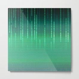 Green Cyber Space Metal Print
