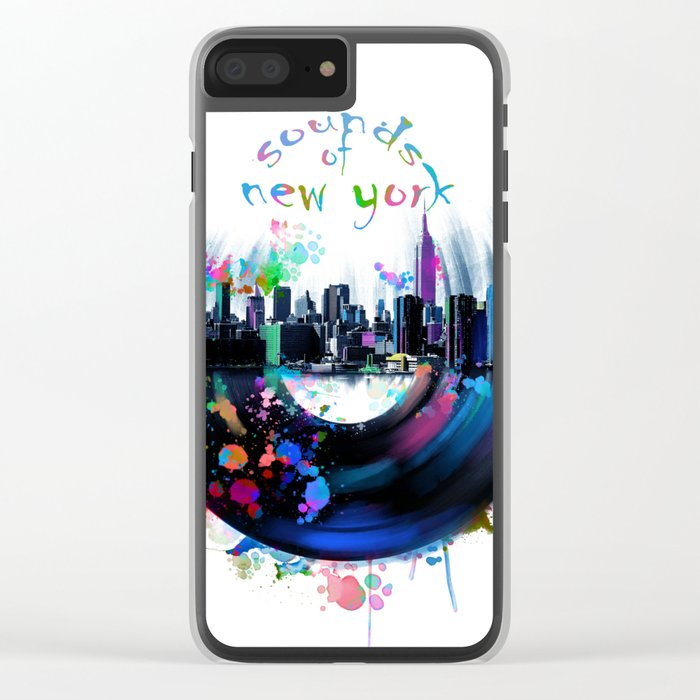 new york city music3 Clear iPhone Case