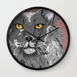 Maine Coon_1 Wall Clock