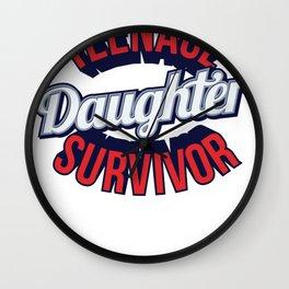 Teenage Daughter Survivor Wall Clock