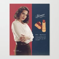 peggy carter Canvas Prints featuring Peggy Carter by winnie