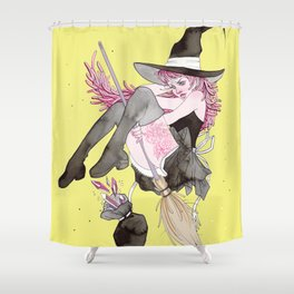 witch and gems Shower Curtain