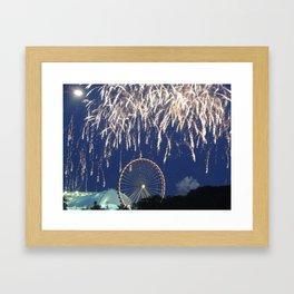 Navy Pier Fireworks Framed Art Print