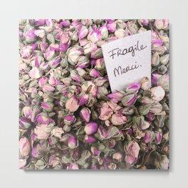 Fragile flowers, Nice France Metal Print