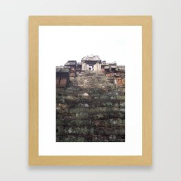 Steep Climb Framed Art Print